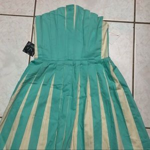 Nasty Gal Sweet Pleat dress Aqua XS